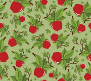 Apple seamless bakground pattern Stock Photo