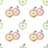 Apple seamless pastel colors pattern fruits texture background Royalty Free Stock Images