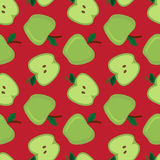 Apple seamless pattern Royalty Free Stock Images