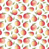 Apple seamless pattern Stock Photos
