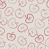 Apple seamless pattern. Vector eps8 royalty free illustration