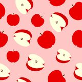 Apple seamless pattern background vector. Apple background texture stock illustration