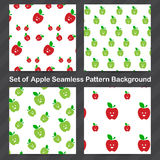 Apple Seamless pattern background 001 Stock Images