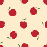 Apple seamless pattern. Fruit background Stock Photos