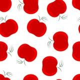 Apple seamless pattern. Good for textile, wrapping, wallpapers, etc. Red apples isolated on white background. Vector illustration royalty free illustration