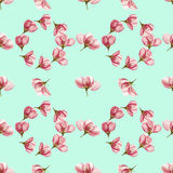 Apple. Seamless pattern texture of flowers. Floral background, p Stock Photo