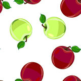 Apple seamless pattern,vector Stock Photography