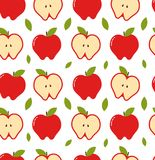 Apple seamless pattern. Vector modern. Flat style cartoon illustration. Isolated on white background vector illustration