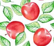 Apple seamless pattern Stock Photo