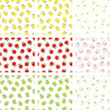Apple seamless patterns Royalty Free Stock Photos
