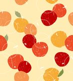 Apple seamless. Retro-style apple seamless pattern Royalty Free Stock Images