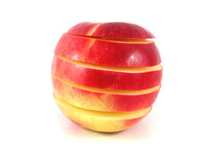 Apple in sections Stock Photo