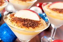Apple and semolina pudding Royalty Free Stock Photo