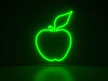 Apple - Series Neon Signs Stock Photo
