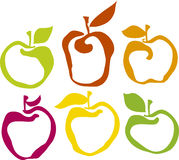 Apple set. Vector apple colour set illustration Royalty Free Stock Photography