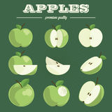 Apple set.Hand drawn apples. Royalty Free Stock Photography