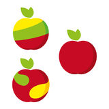Apple 2. A set of apple icons Stock Image