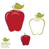 Apple. Set Royalty Free Stock Images