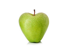 Apple shaped as heart Royalty Free Stock Image