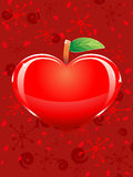 Apple-shaped heart Royalty Free Stock Photo