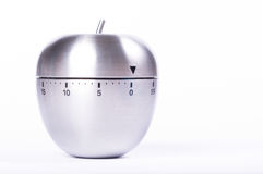 Apple shaped kitchen timer Royalty Free Stock Photos