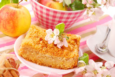 Apple shortcake with crumble Royalty Free Stock Photo