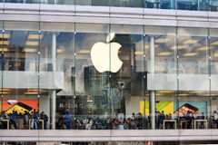 Apple Showroom from outside Royalty Free Stock Photography