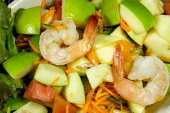 Apple shrimp salad  thai style Stock Image