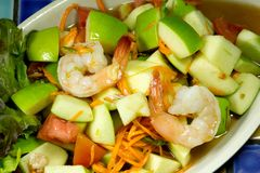 Apple shrimp salad  thai style Stock Photography