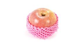 Apple si è avvolto con la rete della frutta della schiuma Fotografie Stock