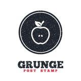 Apple signent l'icône Fruit avec le symbole de feuille Photographie stock libre de droits