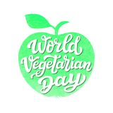 Apple-silhouet Wereld vegetarische dag Royalty-vrije Stock Foto's