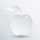Apple silhouette Stock Photo