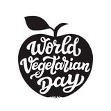 Apple silhouette. World vegetarian day Stock Photography