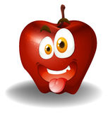 Apple with silly face Royalty Free Stock Image