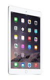 Apple Silver iPad Air 2 with iOS 8, designed by Apple Inc. Royalty Free Stock Image