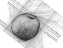 Apple With Apple Slice Illustration Hand Drawn Apple Fruit Sketch Stock Illustration ...