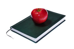 Apple on sketchbook Stock Images