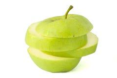 Apple skivor royaltyfria foton