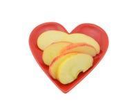 Apple skivor Royaltyfri Foto