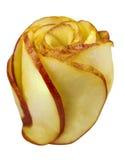 Apple skivor vred in i form av steg Royaltyfri Fotografi