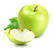 Apple with slice Royalty Free Stock Images