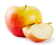 Apple and slice Royalty Free Stock Photos