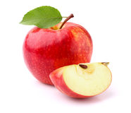 Apple with slice Stock Image