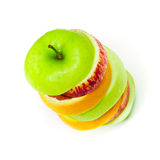 Apple sliced and stacked Stock Images