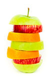 Apple sliced and stacked Royalty Free Stock Photo