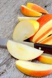 Apple sliced Stock Photo