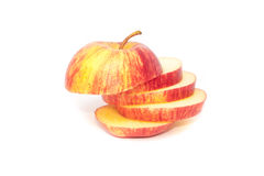 Apple sliced Stock Photos