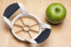 Apple and Slicer Stock Photo