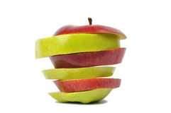 Apple slices Stock Photos